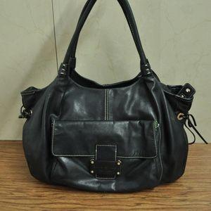 KATE SPADE Stevie Black Leather Shoulder Bag Purse